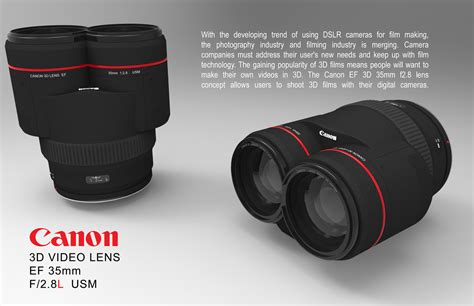 canon 3d canon 3d lens by justin chan at coroflot