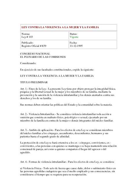 ley de compaias ecuador ecuadorlegalonline ley contra la violencia a la mujer y la familia