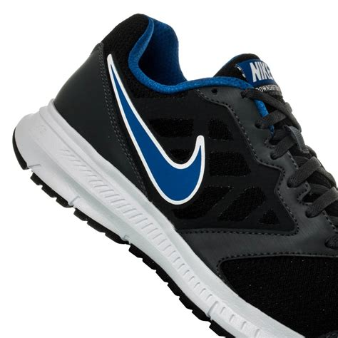 nike black and blue running shoes nike downshifter 6 mens running shoes black blue white