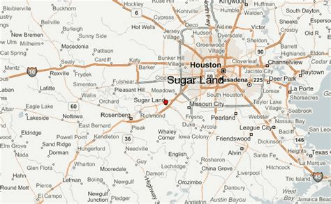 sugarland texas map sugar land location guide