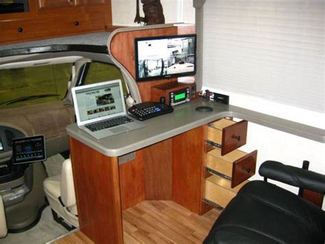 rv computer desk remodeling your rv living area gt rocky mountain rv