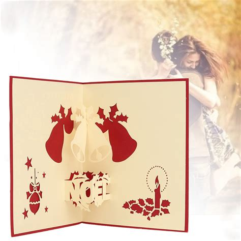 paper crafts greeting cards 3d pop up greeting card table merry postcard