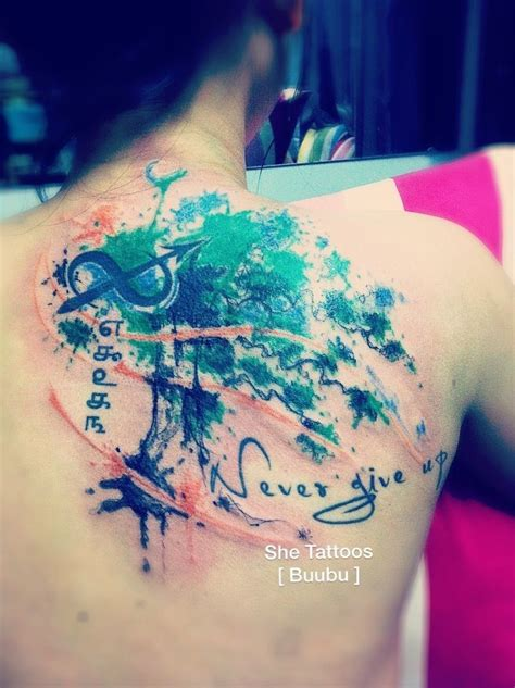 watercolor tattoo vintage tree of life watercolor tattoo