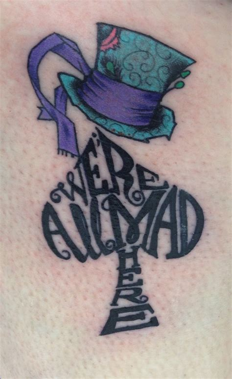 alice in wonderland tattoos designs my new in