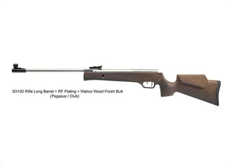 Pegasus Sx100 Long Rf Plating Walnut Wood Finish 177 Calibre