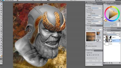 Painting 3d Model by Texture Painting For Flattened 3d Models Using Painter