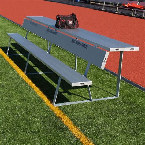 team bench portable portable team bench with shelf