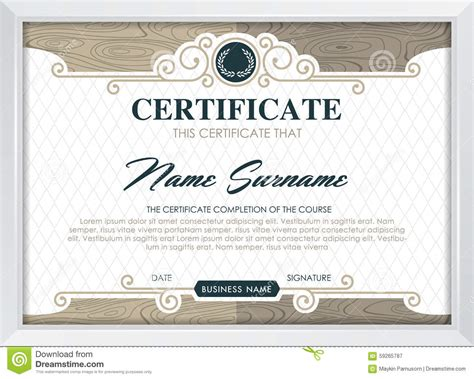 qualification certificate template certificate stock vector image 59265787
