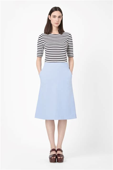what shoes with my a line midi skirt dress like a parisian