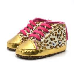 gold crib shoes baby infant toddler leopard gold crib shoes