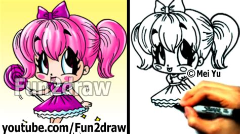 fun2draw how to draw cartoon people free coloring pages of fun2draw