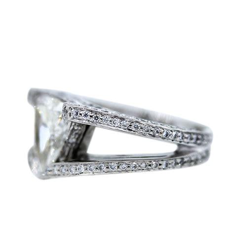 platinum 2 70 carat trillion cut engagement ring