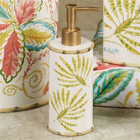 Tropical palm ceramic bath accessories by dena home