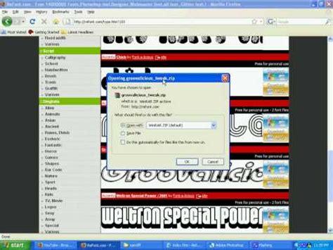 adobe photoshop cs2 tutorial youtube tutorial install fonts on adobe photoshop youtube