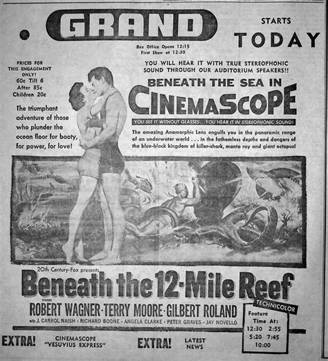 beneath the 12 mile reef 1953 robert wagner best 25 ideas on mission