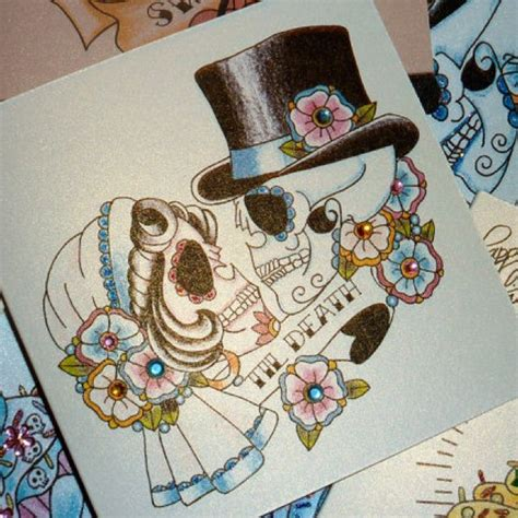 sugar skull couple tattoo sugar skull skullz