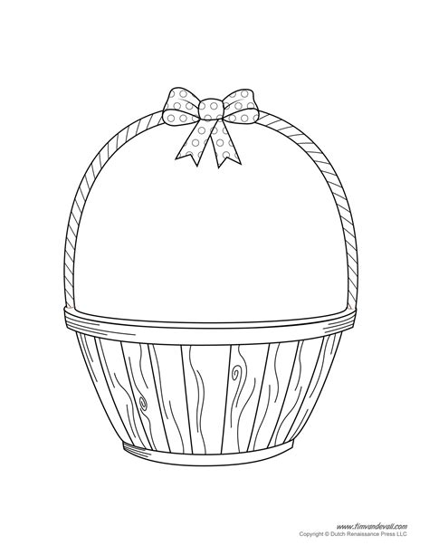coloring page of empty easter basket empty basket coloring page az coloring pages