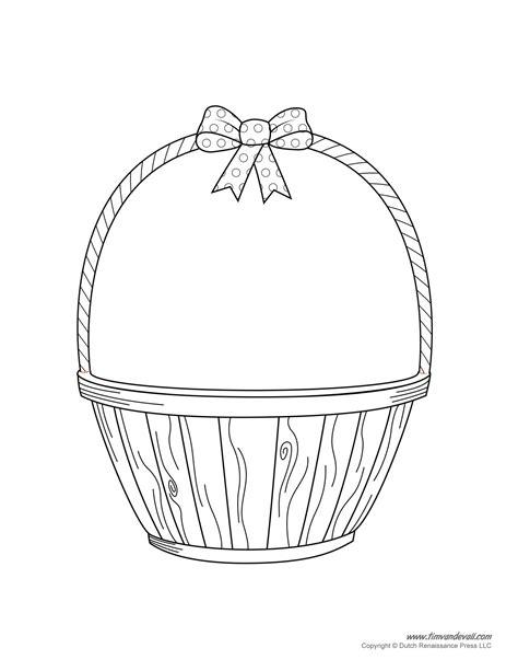 empty basket coloring page az coloring pages