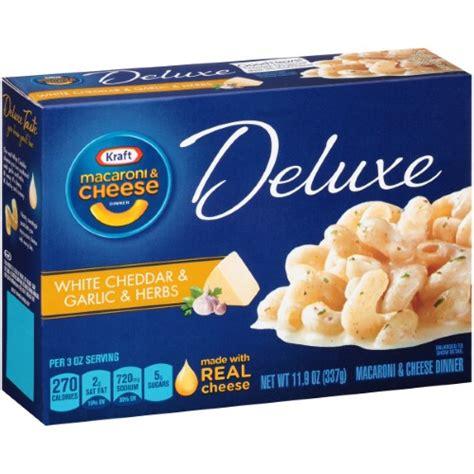 Kraft Macaroni N And Cheese White Cheddar Ceddar 206 Gr kraft macaroni cheese deluxe white cheddar and garlic herbs 11 9 ounce jet
