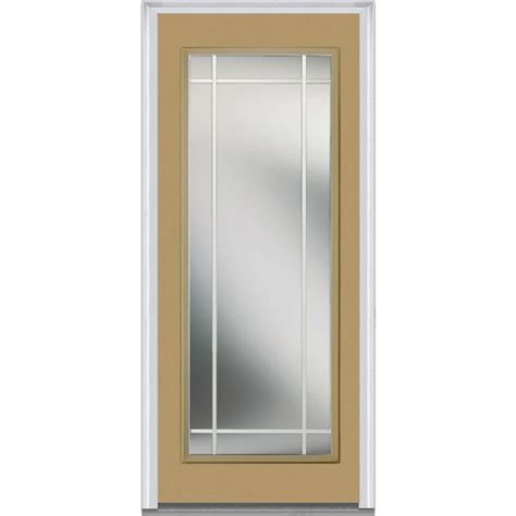 30x80 Exterior Door Mmi Door 30 In X 80 In Prairie Muntins Left Lite Classic Painted Steel