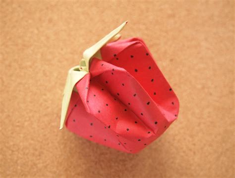 How To Make A Paper Strawberry - origami strawberry 28 images origami how to grow your
