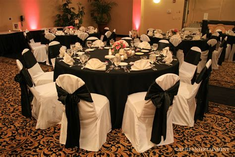 Flower Seat Covers - black table cloth wedding viewing gallery