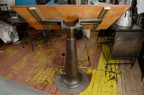 Hydraulic Drafting Table Swedish Adjustable Hydraulic Drafting Table At 1stdibs