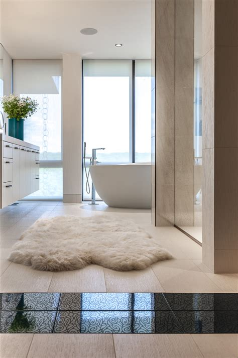 Sheepskin Bathroom Rug Marvelous Sheepskin Rug Decorating Ideas For Bedroom Transitional
