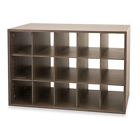 shoe rack cubby storage unit buy organized living freedomrail 174 big o box cubby unit in