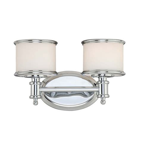 bathroom vanity lighting shop cascadia lighting 2 light carlisle chrome bathroom