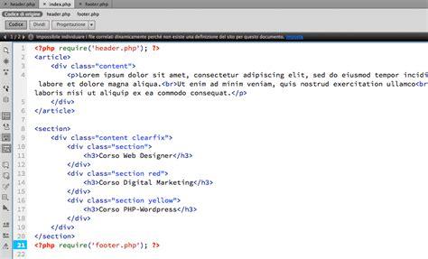layout web php costruire un layout web in php veneto formazione