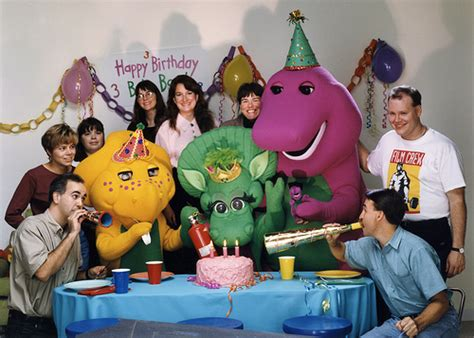 barney and the backyard gang cast barney book photo shoot cast crew flickr photo sharing