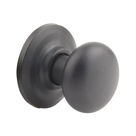 Yale Door Knob by Shop Yale Security Yh Cambridge Textured Black Dummy Door