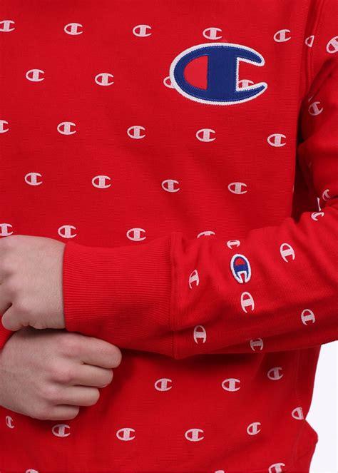 reverse pattern in c chion pattern logo sweatshirt red