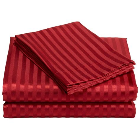 striped bed sheets striped satin sheet set 225639 sheets at sportsman s guide