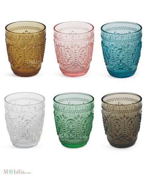 bicchieri vetro colorati set 6 bicchieri vetro colorati villa d este