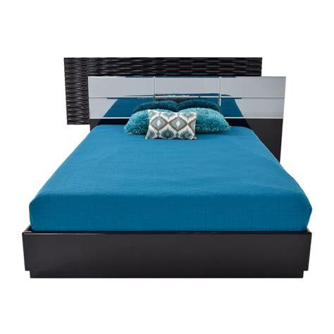 mirrored queen bed manhattan black mirrored queen platform bed el dorado furniture