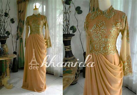 Baju Pesta Muslim Warna Gold beragam jenis dress warna gold butik jahit pesan jual baju gaun gamis pesta