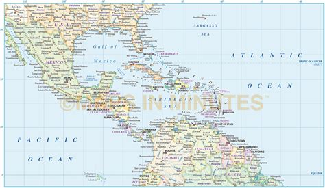 map usa and caribbean central america vector map in illustrator and pdf format