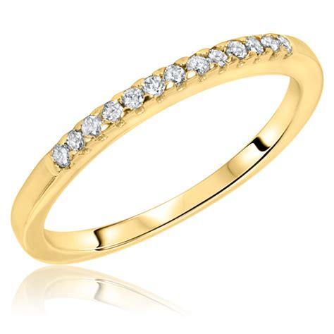 1 carat diamond trio wedding ring set 10k yellow gold my