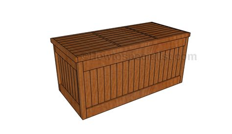 Patio Storage Box Plans by Deck Box Plans Howtospecialist How To Build Step By