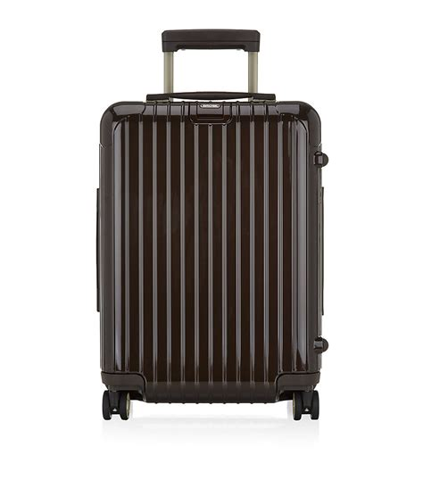 rimowa cabin trolley rimowa salsa deluxe cabin trolley spinner 50cm in brown