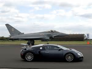 Bugatti Racing A Jet Bugatti Veyron Vs Typhoon Jet Fighter 2017 2018