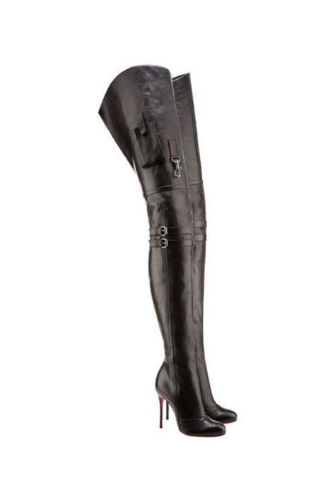 christian louboutin thigh high boots my style