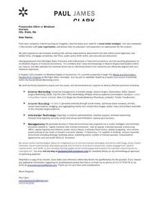 Digital Manager Cover Letter by Digital Marketing Cover Letter Exle Cover Letter