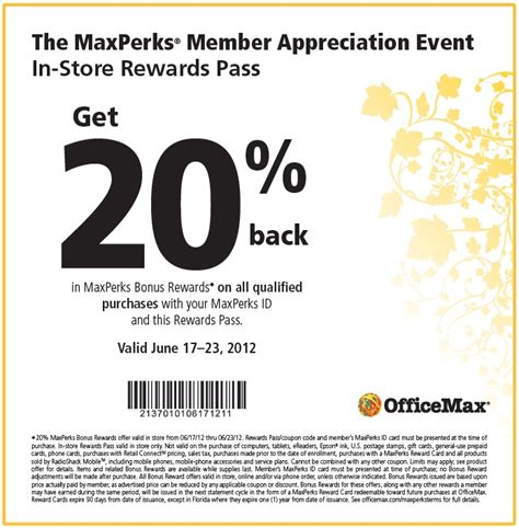 printable tickets at office max officemax printable coupon expires june 23 2012