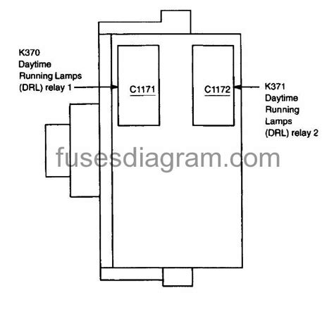 fuses  relays box diagram ford
