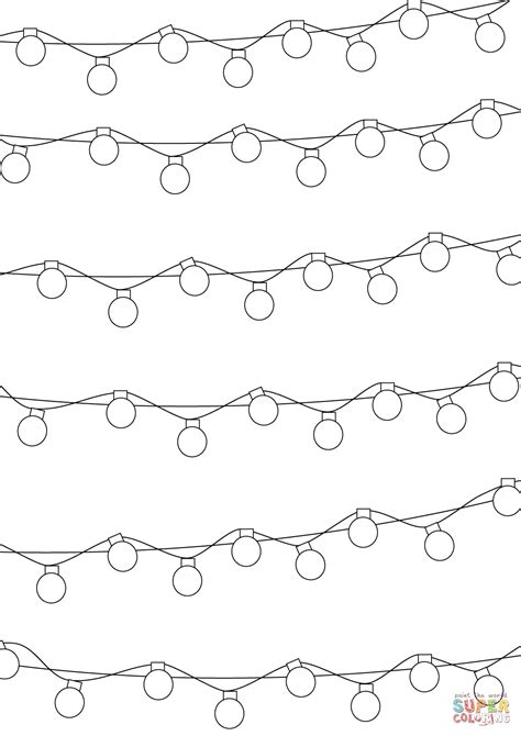 christmas lights pattern coloring page free printable