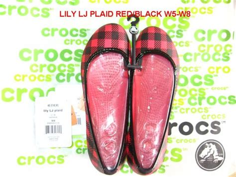Dziner Ori Black List White jual crocs ori lj plaid jualcrocs