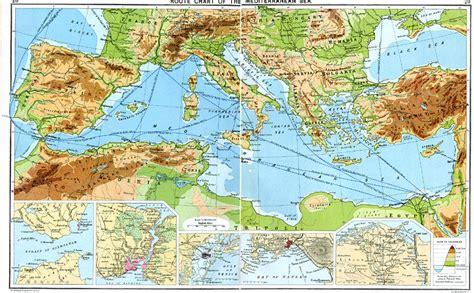 map of mediterranean sea route chart of the mediterranean sea